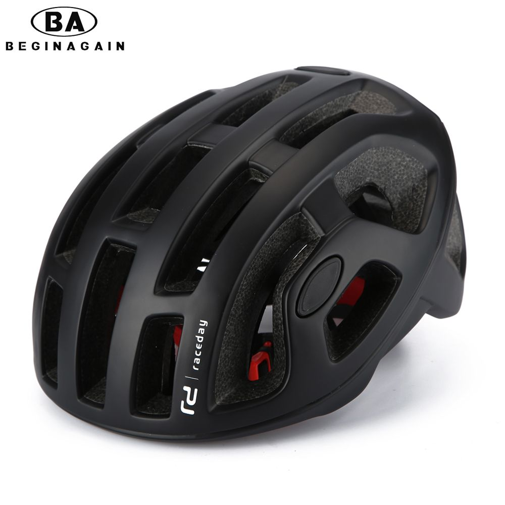 BEGINAGAIN Cycling Helmet <font><b>Matte</b></font> Pneumatic Mens Bicycle Helmet Professional Mountain helmet Racing Bike IN-MOLD Safely Cap