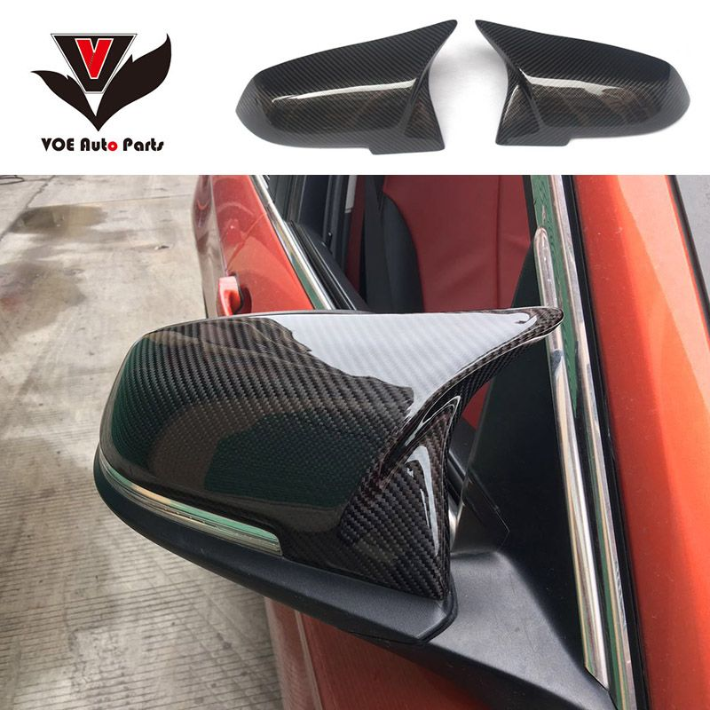F30 New M Look Carbon Fiber Replacement Style Side Mirror Covers for BMW 1 2 3 4 Series F20 F21 F22 F23 F30 F31 F32 F33 F36 F87