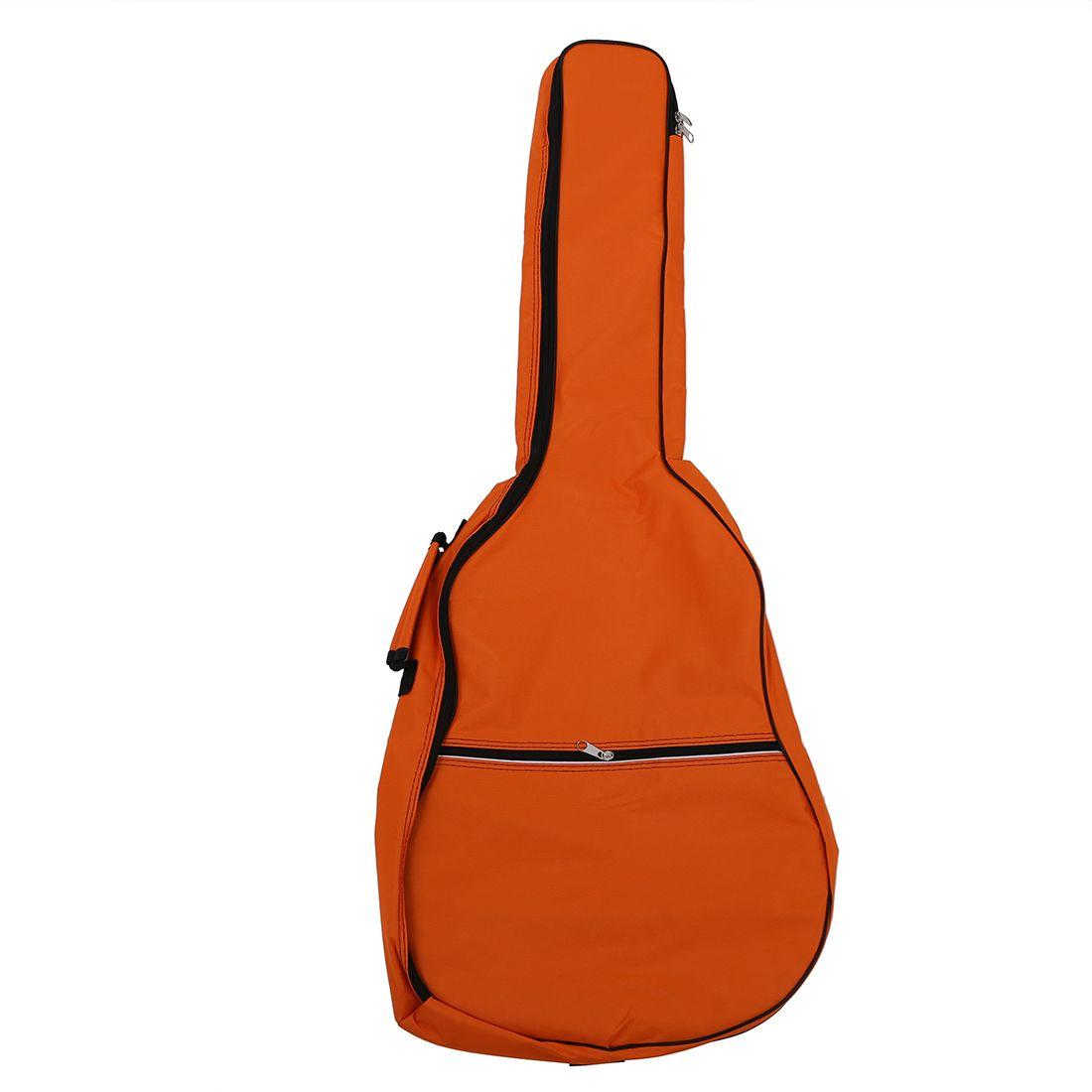 Gig Bag Case Soft Padded Straps for Folk Acoustic Guitar 39 40 41 Inch Orange