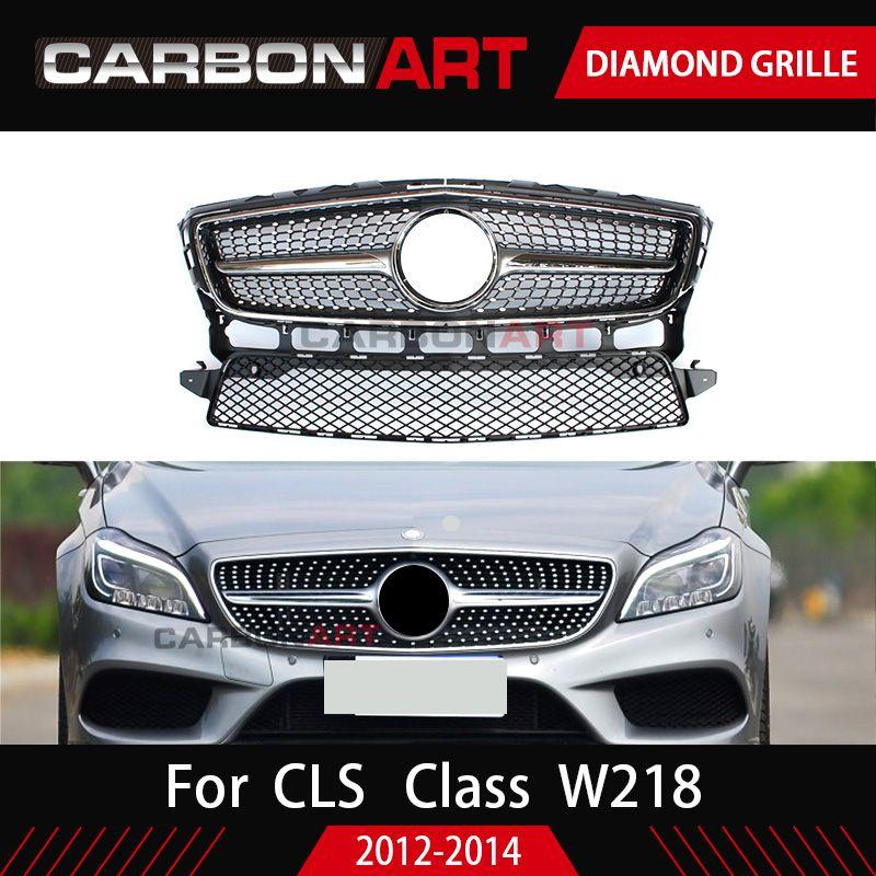 W218 grille Diamant Stil design ersatz ABS Front grill mesh für Mercedes 2012-2014 CLS KLASSE W218