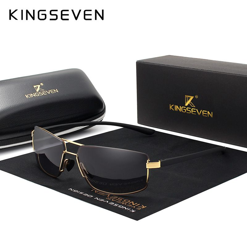 KINGSEVEN marque Design lunettes de soleil hommes conduite carré cadre lunettes de soleil mâle classique unisexe lunettes lunettes Gafas