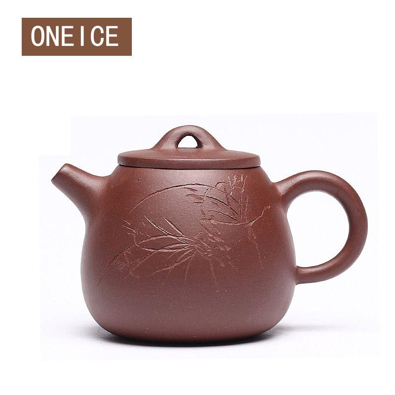 Free Shipping Yixing purple clay Teapot High Stone scoop pot teapot Author: Zhou ting 160ml Chinese Zisha Tea Pots