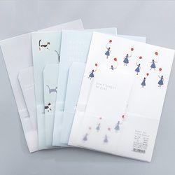 9 pcs/ensemble 3 enveloppes + 6 écriture papier Simple vie Série Enveloppe Pour Cadeau Papeterie Fournitures Scolaires