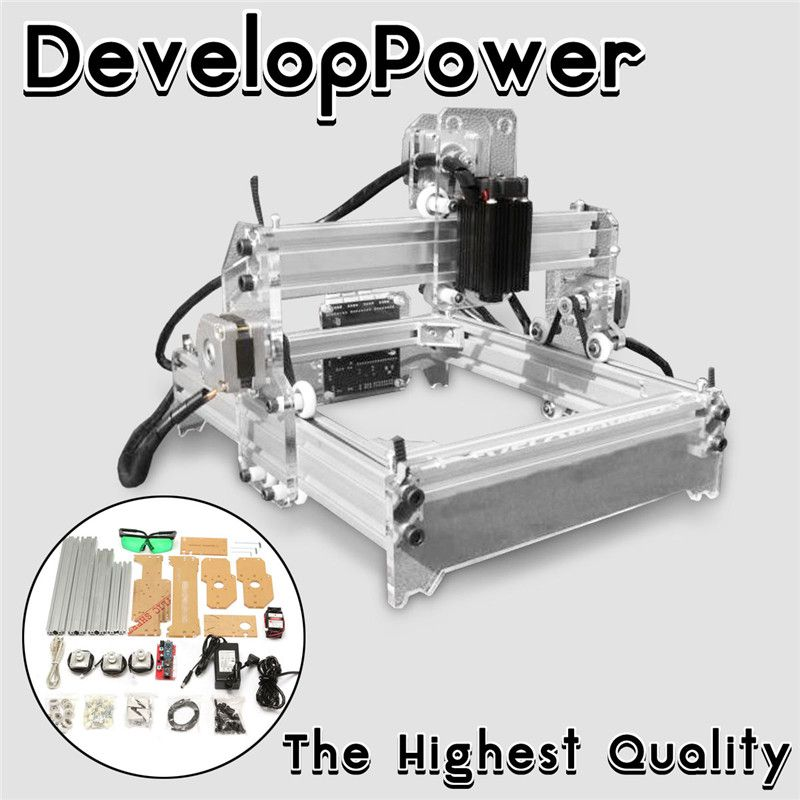 2000MW A5 17x20cm Laser Engraver Cutting Machine Desktop Engraving CNC Printer DIY Desktop Wood Cutter + Laser Goggles