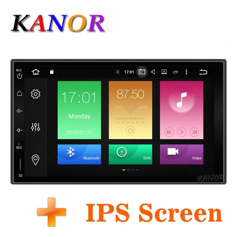KANOR Octa Core RAM 4G ROM 32G 2 Din Android 8.0 Car Audio <font><b>Stereo</b></font> Radio With GPS WiFi Universal GPS Navigation Video Head Unit