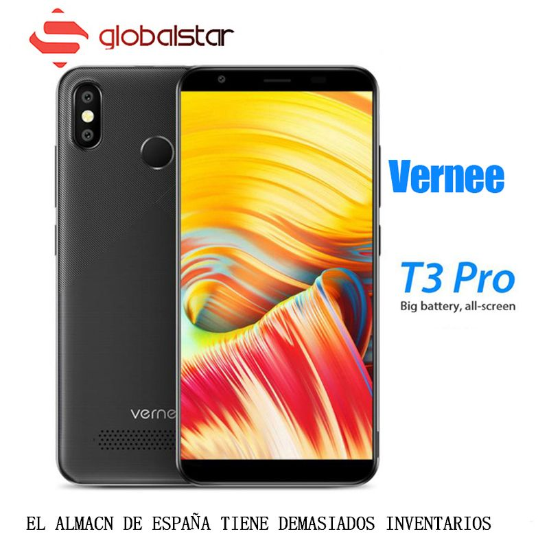 Vernee T3 Pro 5.5'' Full Screen Smartphone 3GB RAM 16GB ROM Mobile Phone Android 8.1 MTK6739 Quad-core 4080mAh 4G LTE Cellphones