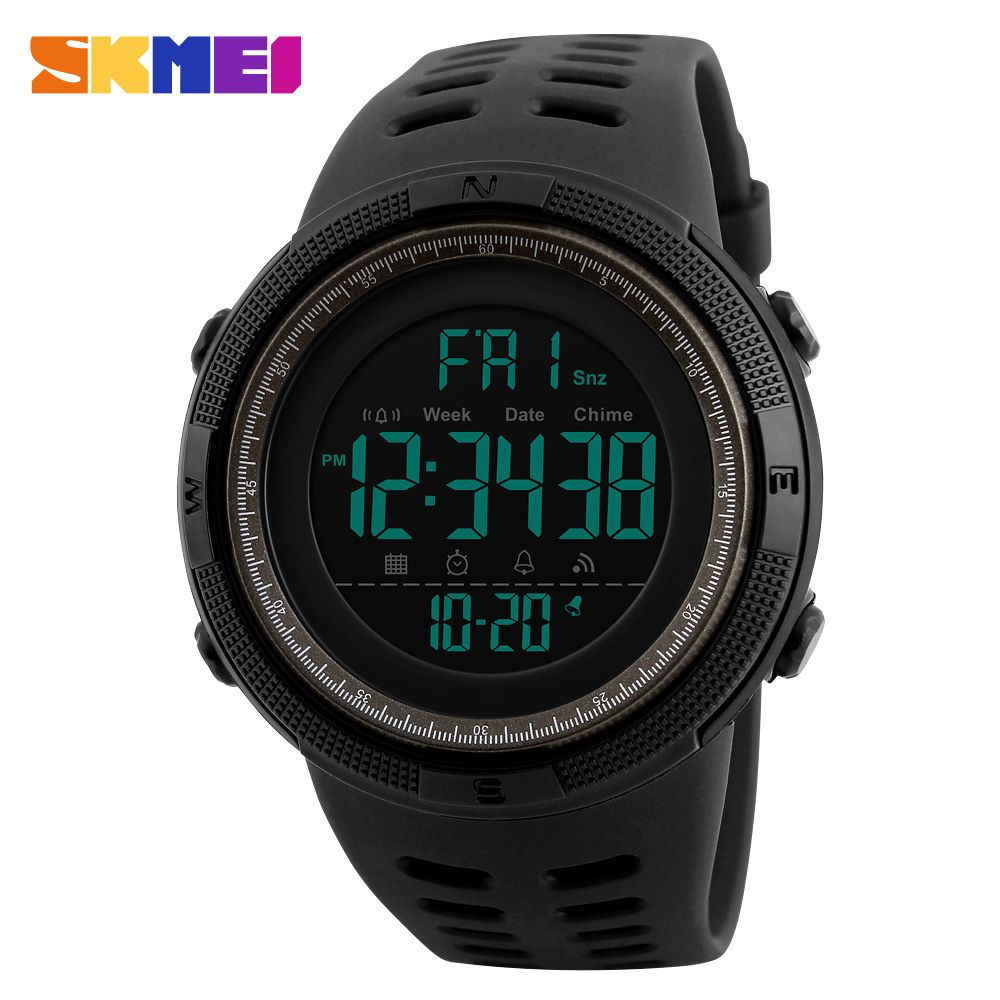 Men Military Sport Watch SKMEI Brand Luxury Countdown Watches For Men Outdoor Digital Watch Male Clock Electronic <font><b>Wrist</b></font> Watch