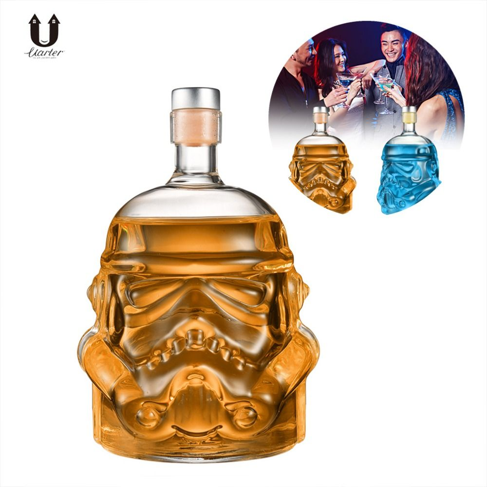 UARTER Star Wars Stormtrooper Helmet Whiskey Decanter Crystal Glass Wine Decanter Bottle High quality Wine Glasses Accessories