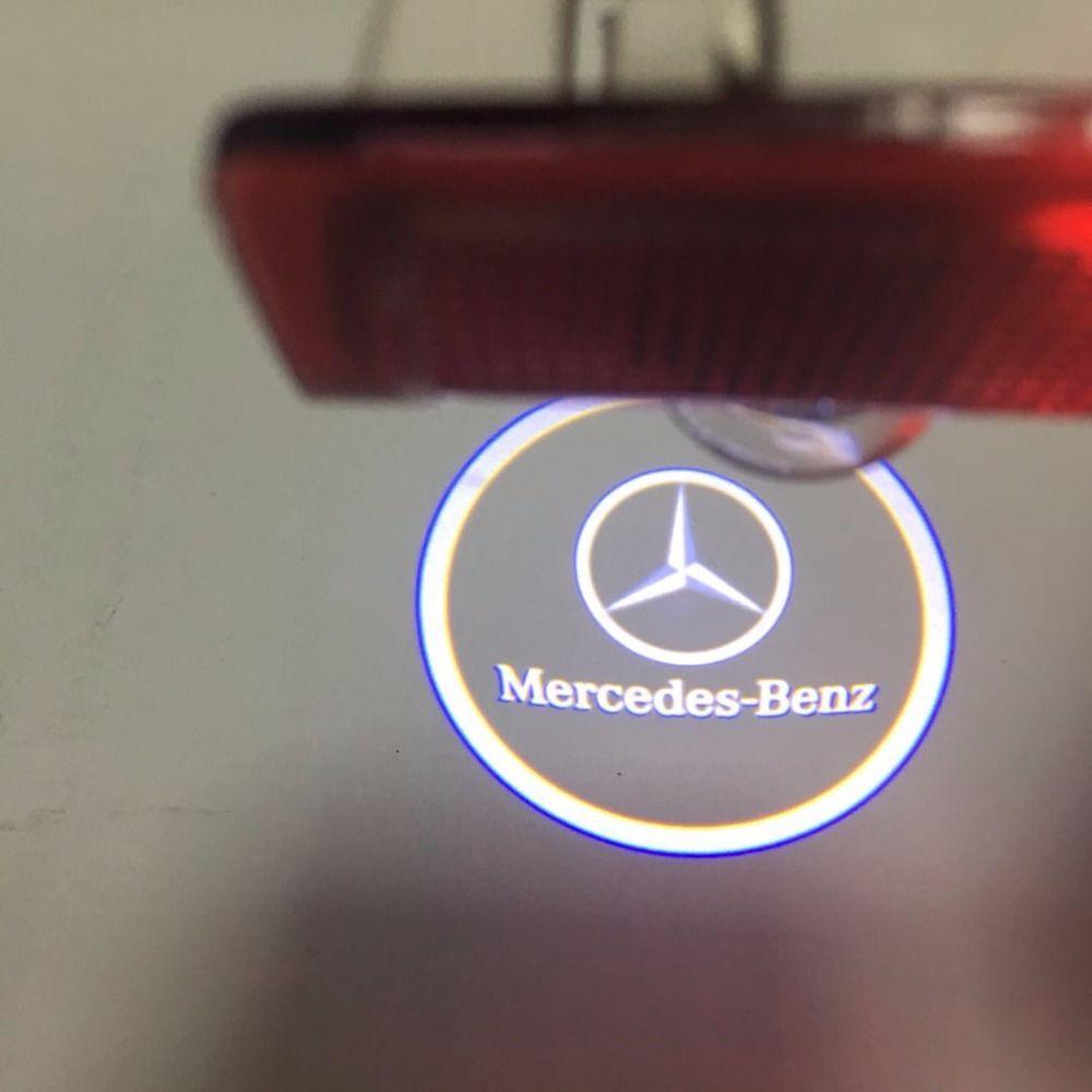 2pcs/set LED Car laser projector lamp Car Door light For Mercedes Benz X164 W205 W166 W176 W246 W212 GLA GL E A B C Class logo