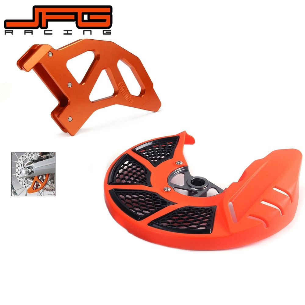 A Set Front & Rear Brake Disc Rotor Guard Protective Cover For KTM SX EXC SXF 500EXC 450XCF 450EXC 350EXC-F 250XCF 150SX 250SX