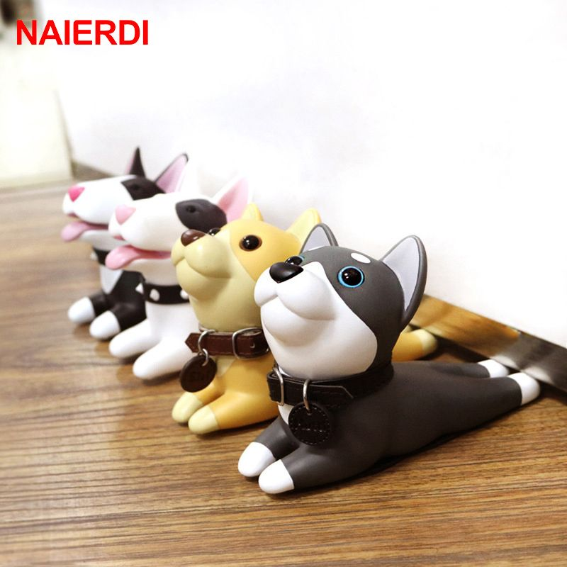 NAIERDI Cute Door Stops Cartoon Creative Silicone Door Stopper Holder Safety Toys For Children Baby Home Furniture Hardware