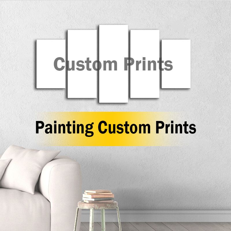 Wall Art Pictures Living Room Decor HD Prints Poster 5 Pieces custom Landscape Painting Framework 001