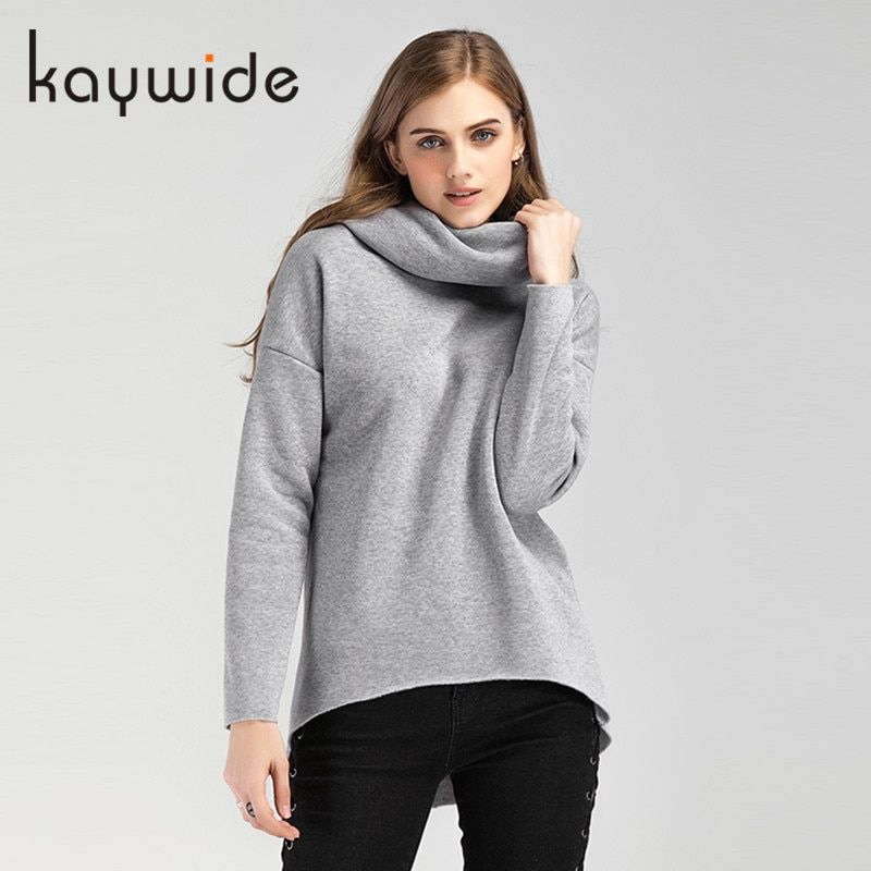 Kaywide Christmas Clothes 2017 Women Winter Hoodies Scarf Collar Long Sleeve Fashion Casual Autumn Sweatshirts Rough Pullovers