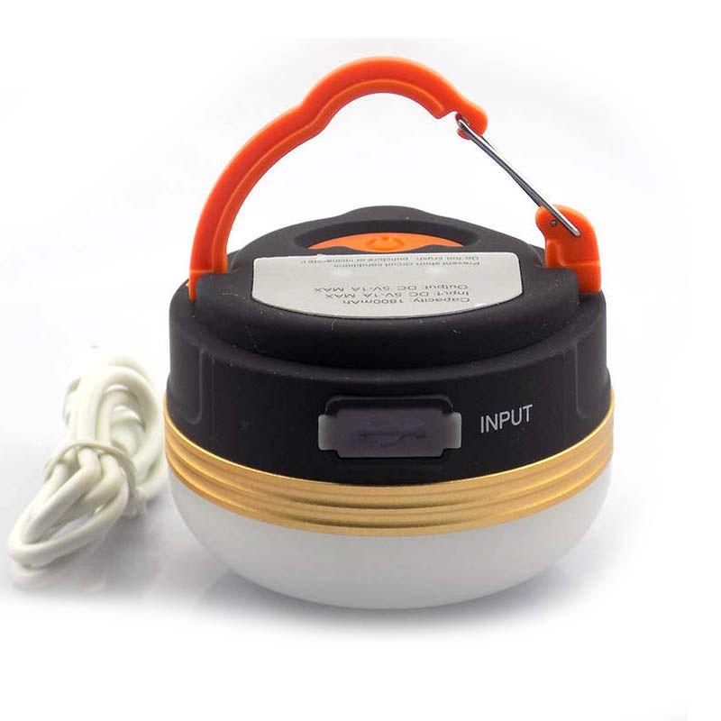 Lumière portative Rechargeable de tente de lanterne de camping de LED d'usb chargeur Ultra lumineux de Source d'énergie de 300 Lumens pour la lumière de téléphone Portable