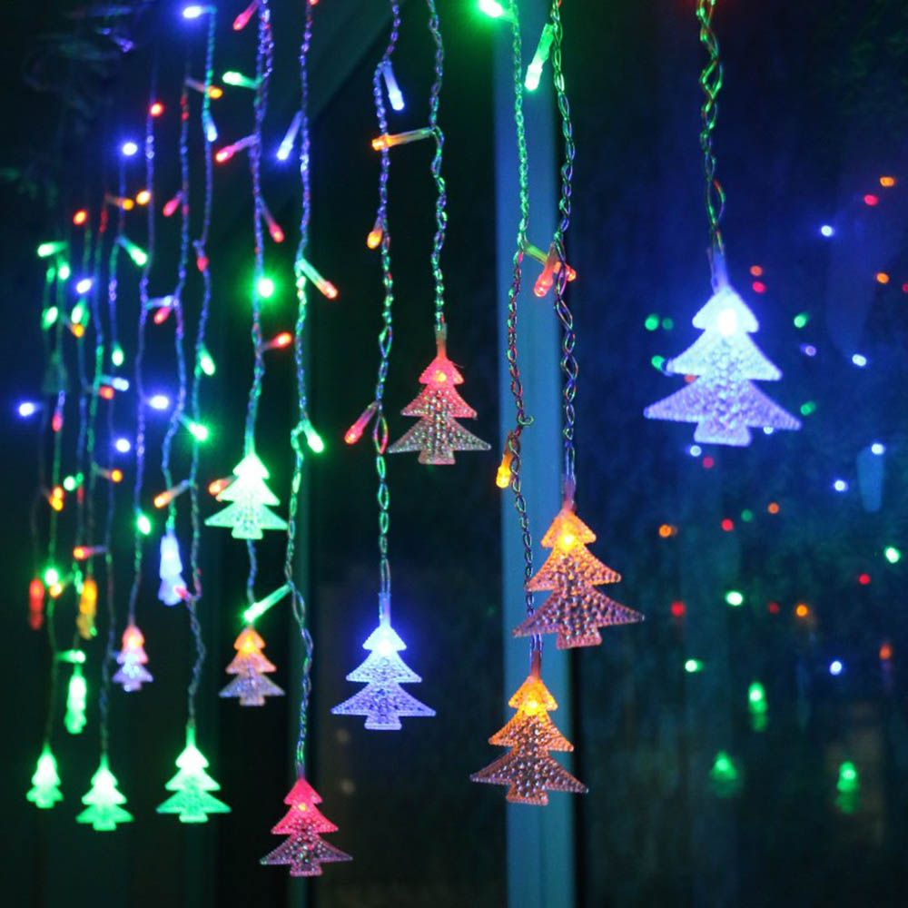 De noël Guirlande LED Rideau Icicle Lumière De Corde 220 v 4.5 m 100 Leds Intérieur de Baisse LED Garden Party Scène Extérieure lumière décorative