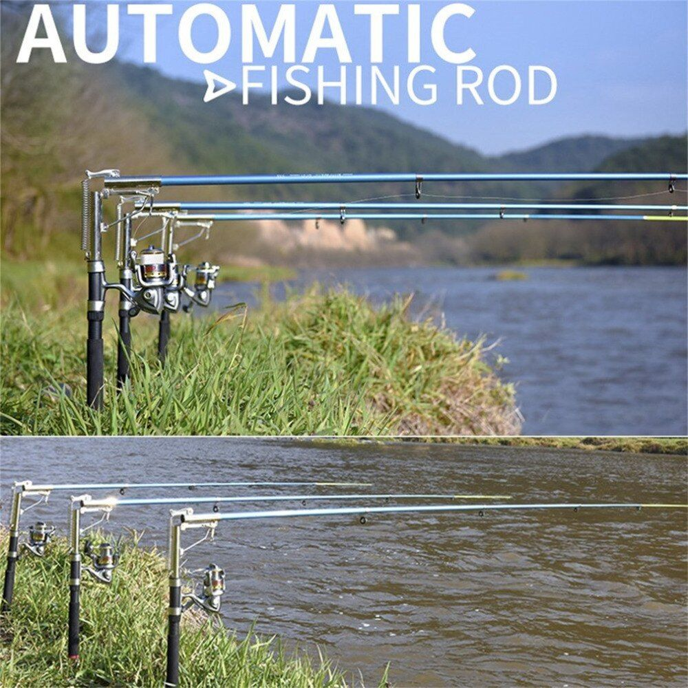 Top Lightweight Stainless Steel Automatic <font><b>Fishing</b></font> Rod Anti-Slip Handle Sea River Lake <font><b>Fishing</b></font> Rod Fish Pole With Storage Bag