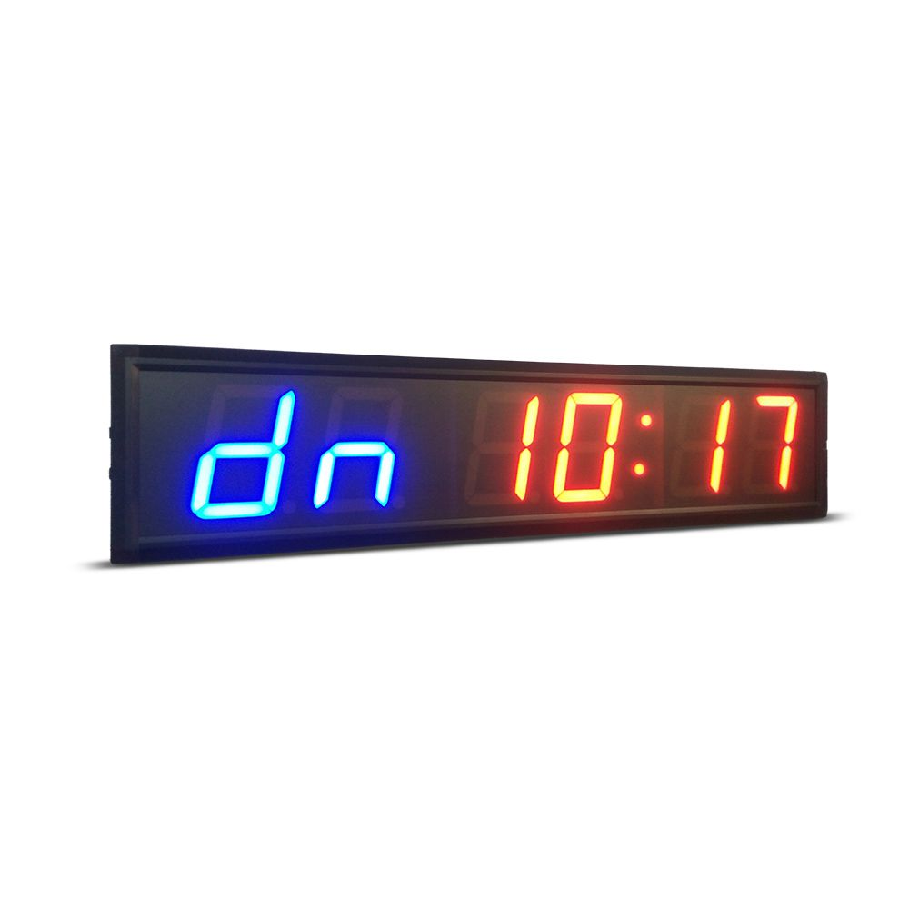 Freies verschiffen 4 zoll GYM Crossfit Timer LED Intervall Timer Ausbildung Zeit Und Rest Zeit Alternative CountdownCount up Als stoppuhr