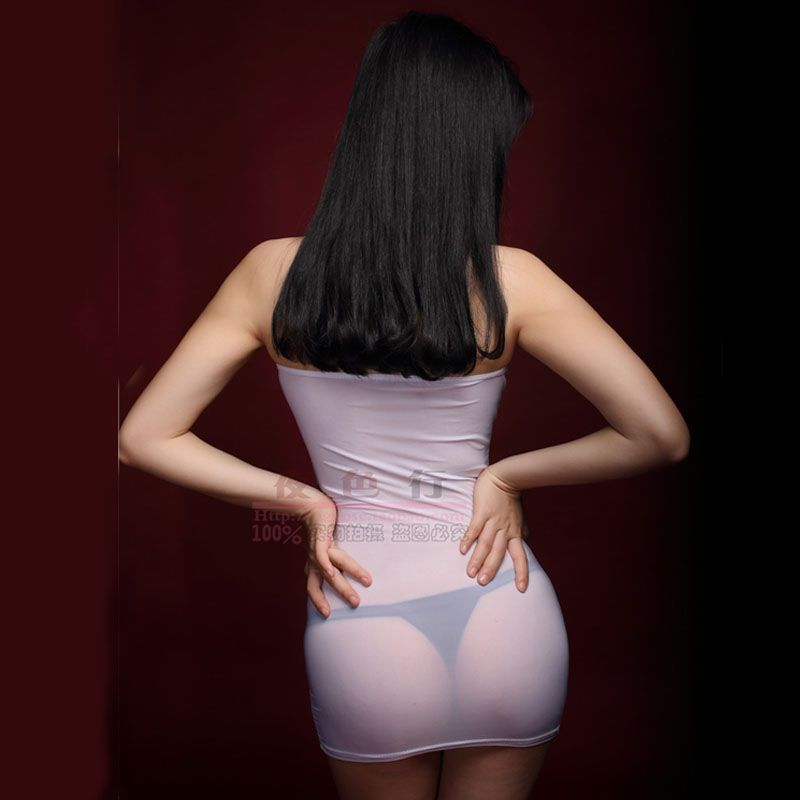 Прозрачные женские пикантные тонкие бедра мини-юбка шелковистой ультра-тонкий B Топ