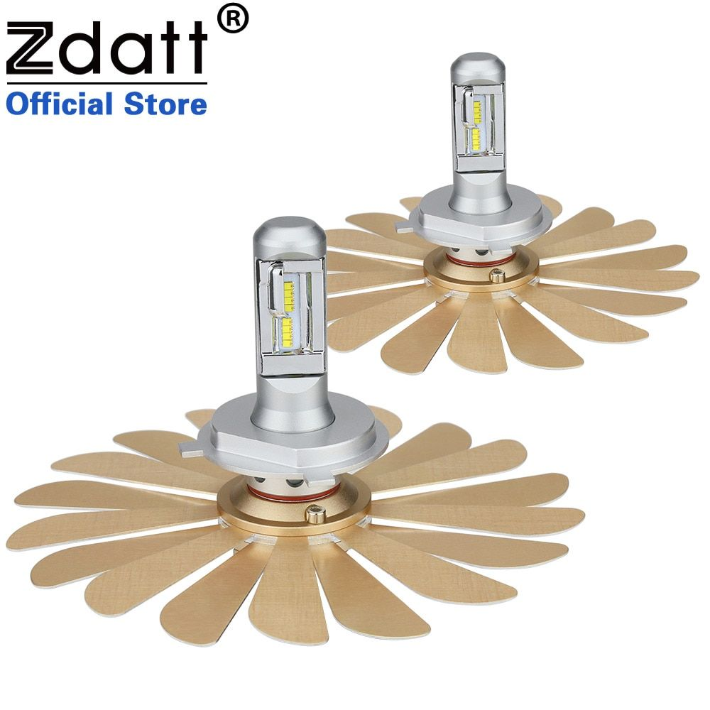 Zdatt Fanless Car Led Light ZES 100W 12000LM Headlights H4 Led Bulb H1 H7 H8 H11 9005 HB3 9006 HB4 12V Auto Lamp 2nd Chip Canbus
