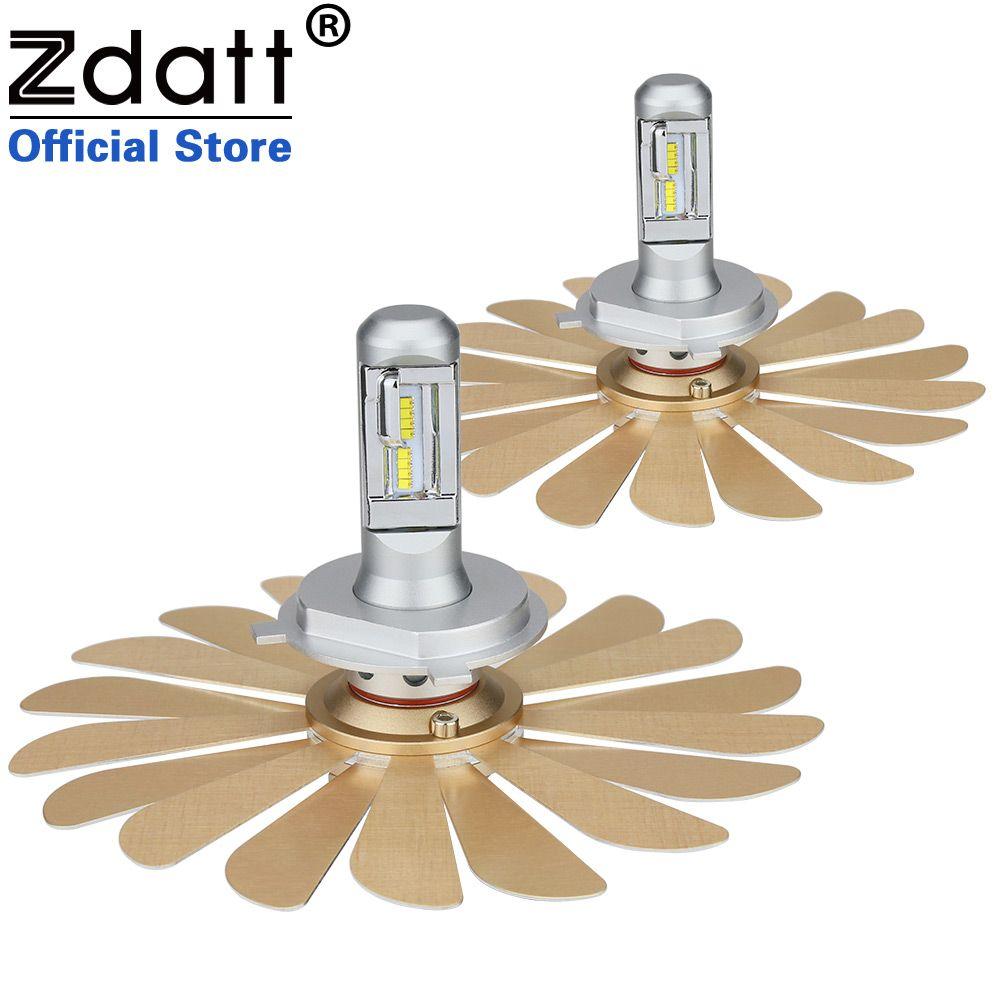 Zdatt Fanless Car Led Light ZES 100W 12000LM Headlights H4 Led Bulb H1 H7 H8 H11 9005 HB3 9006 HB4 12V Auto Lamp 2nd Chip Canbus