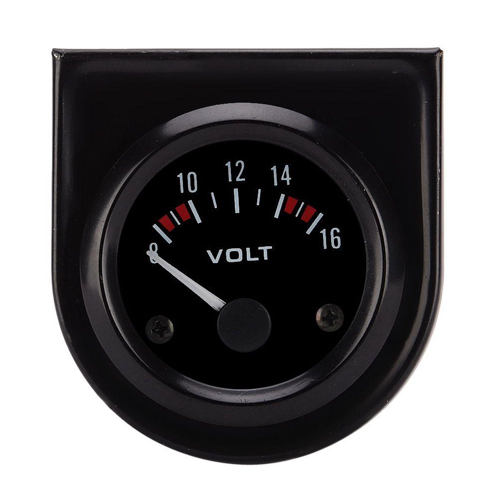 1 Pc Universal 12v 2 52mm Volt Voltage Meter Gauge Voltmeter Car Auto Measure Range 8-16v LED Light