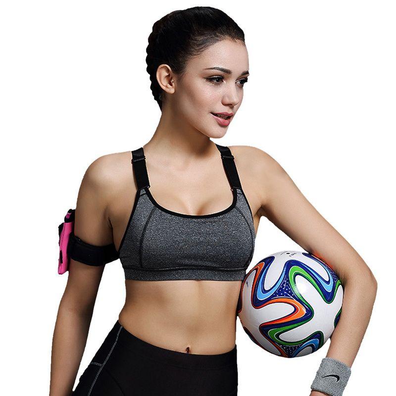 Vertvie Sports Bra Women Fitness Yoga Padded Push Up Breathable Gym Bra Sujetador Brasieres Deportivos Soutien Gorge Sport Top