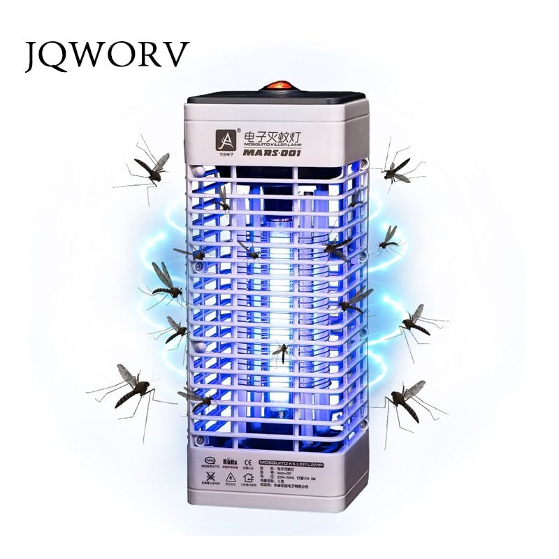 JQWORV Upgraded Electronics Mosquito Killer Trap Moth Fly Wasp Led Night Lamp Bug Insect Light Black Killing Pest Zapper CNPlug