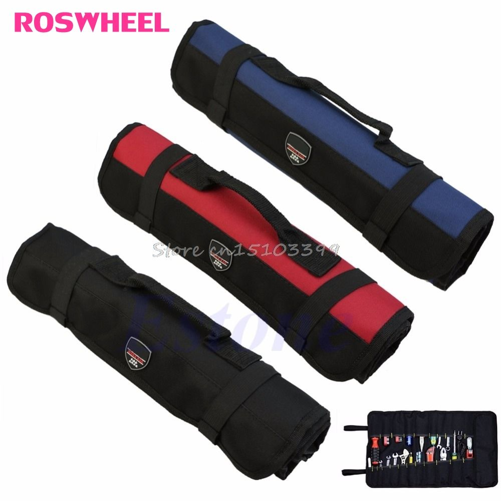 Hardware Tools Roll Plier Screwdriver Spanner Carry Case Pouch Bag 22 Pockets G08 Drop ship