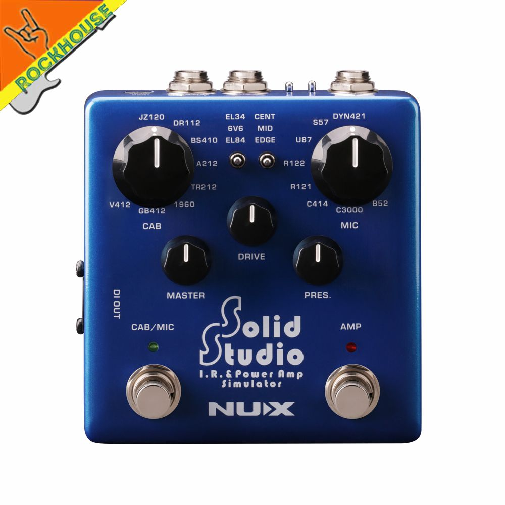 NUX Solid Studio IR Loader Effects Pedal Cabinet Simulator Microphone Simulator Guitar Pedal IR & Power Amp simulator