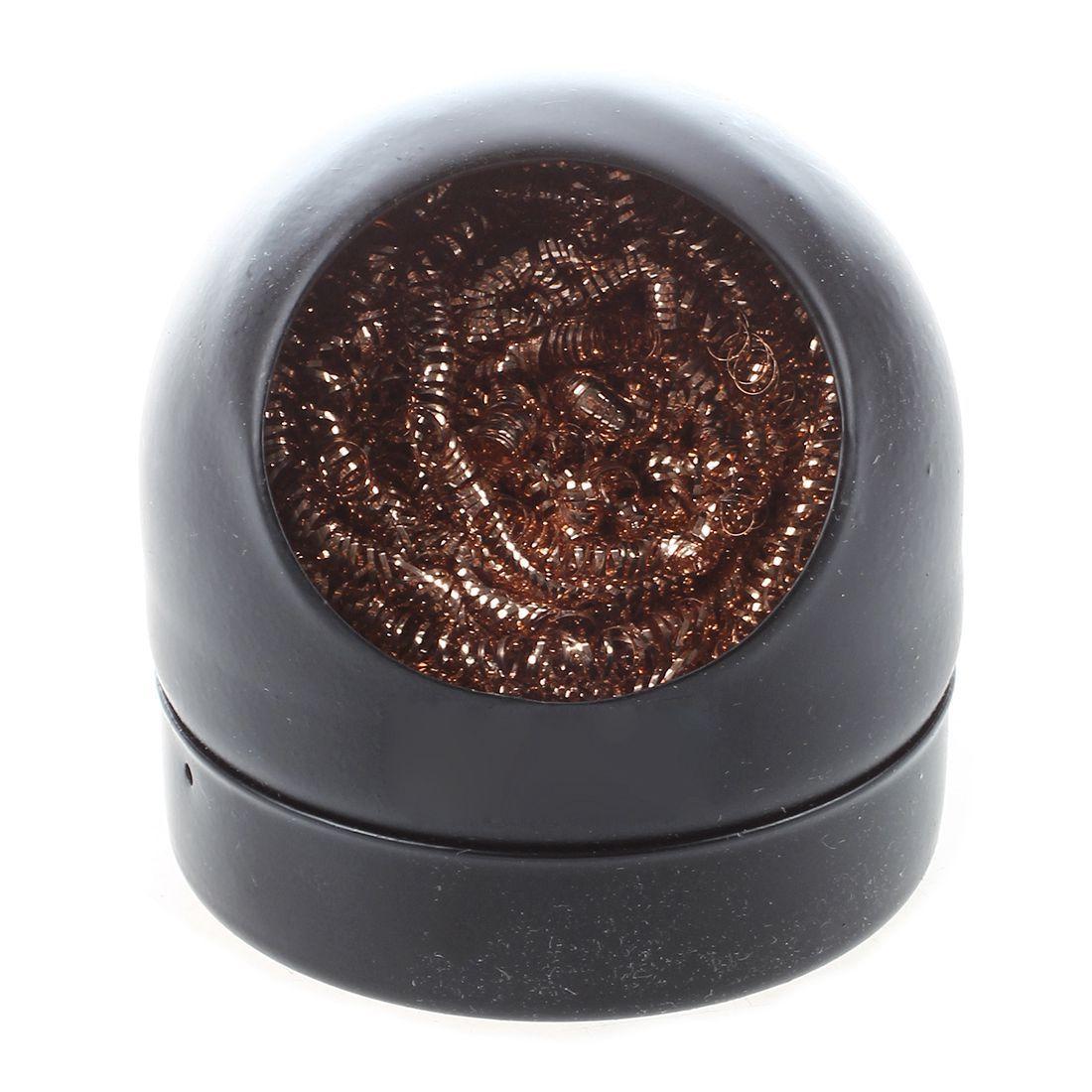 Neue Lötkolben Spitze Reinigung Draht Düsenreiniger Schwamm Ball mit Halter