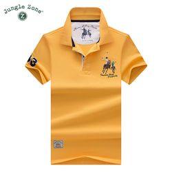De haute Qualité Tops & T-shirts Hommes Polo chemises D'affaires hommes marques Polo Chemises 3D broderie Turn-down col mens polo shirt 9099