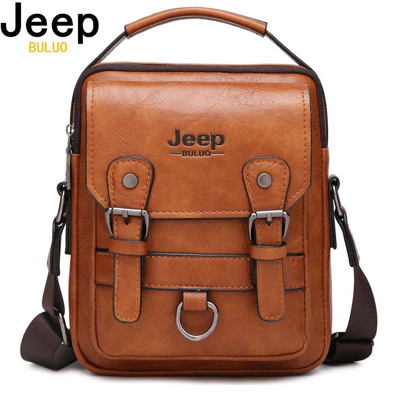 JEEP BULUO multi-fonction hommes sacs à main nouveau homme bandoulière sac à bandoulière grande capacité en cuir Messenger sac pour homme voyage Cool