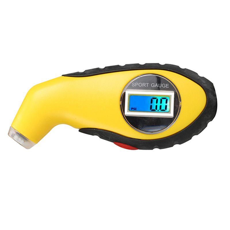 LCD Digital 5.0-100 PSI Backlit Tire TyreTester Manometer Barometers Tool For Car Motorcycle KPA BAR Air Pressure Gauge 20%Off