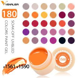 Venalisa UV Gel New 2018 Nail Art Tips Design Manicure 180 Color UV LED Soak Off DIY Paint Gel Ink UV Gel Nail Polishes Lacquer