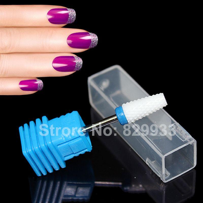 Livraison gratuite 1 pc foret à ongles en céramique manucure pédicure Machine électrique gaucher Nail Art Salon pied callosités outils de forage