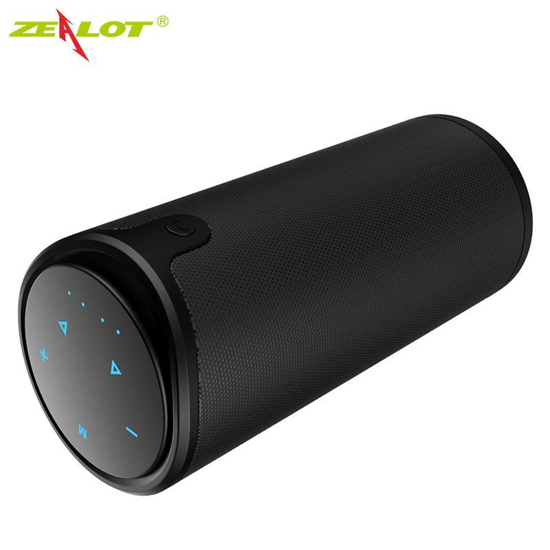 Zélot S8 haut-parleurs Bluetooth sans fil colonne extérieure HIFI stéréo caisson de basses boîte à musique Portable haut-parleur haute puissance Support TF carte