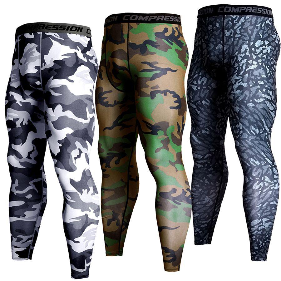 Brand Compression Pants Men Running Tights Men Camo 3D Print Sport Jogging Pants Leggings Joggers Bodybuilding Training Trousers