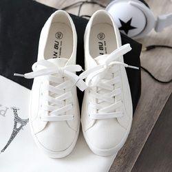 Bintang Kanvas Sepatu Wanita Sepatu Kasual Sepatu Kets Putih Wanita Vulcanized Sepatu Renda Up Flat Pelatih Wanita Musim Panas Sepatu