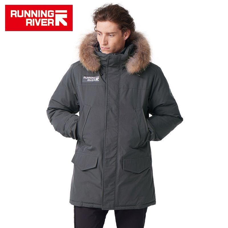 LAUF FLUSS Marke Männer Winter Mit Kapuze Wandern & Camping Unten Hohe Qualität Thermische Wasserdichte Mann Kleidung Outdoor Jacken # D5147