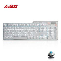 Ajazz AK35i RGB Keyboard Mekanik Gaming Keyboard Switch USB 3.0 Kabel LED Backlight Ergonomis Keyboard untuk LOL Komputer PC