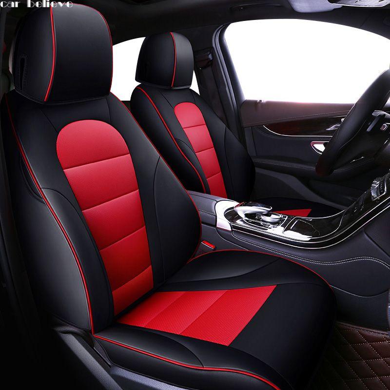 Car Believe Auto Leather car seat cover For suzuki grand vitara jimny swift sx4 baleno accessories covers for vehicle seats