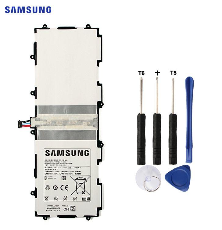 SAMSUNG Original Battery SP3676B1A For Samsung Galaxy Tab 10.1 S2 10.1 N8000 N8010 N8020 GTN8013 P7510 P7500 P5110 P5100 7000mAh