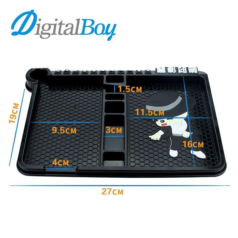 Digitalboy Universal Car Silicone Anti Slip Pad Phone Holder Stand Non-slip Frame Dashboard Mat for iphone Car Accessories key