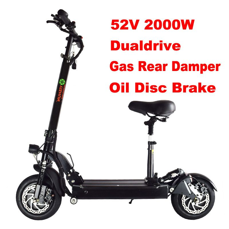 2000W Powerful Electric Scooter Hoverboard Electric Off Road Skateboard Eletrico Adult Scooter Motor Skateboard Dual Drive 2000W