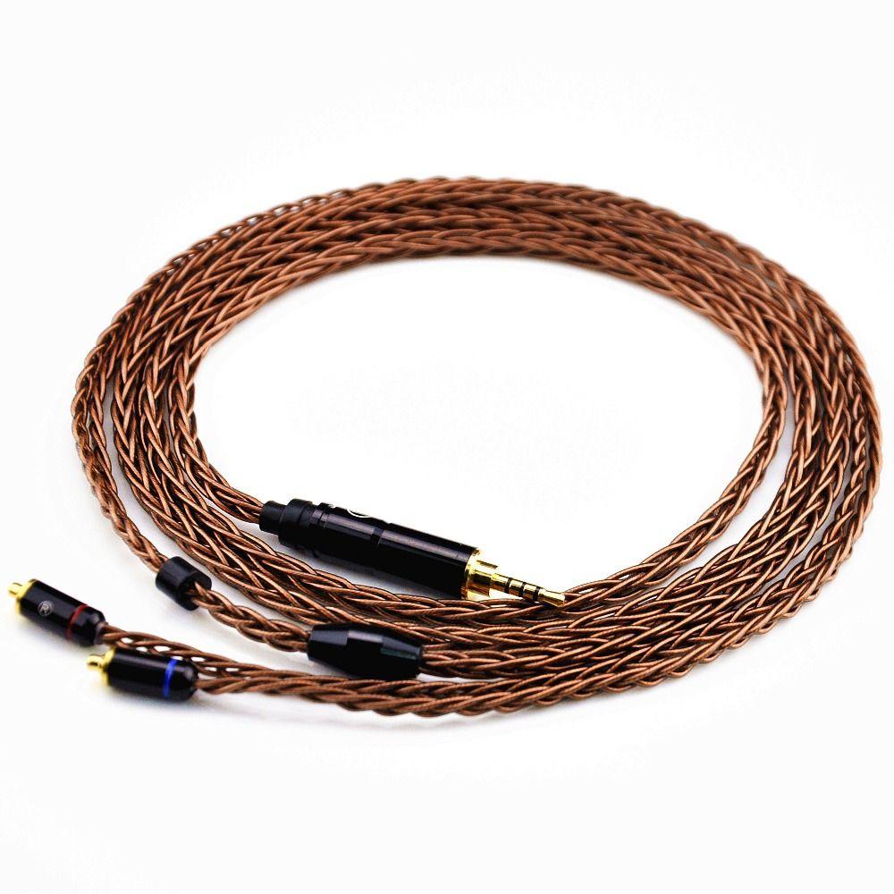 Новое поступление LZ 2.5 мм балансный кабель 8-core 6N upgreded один кристалл Медь наушники кабель с разъемом MMCX для LZ A4/A5