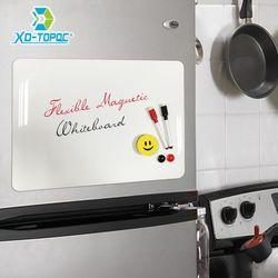 Xindi A3 30*42 Cm Fleksibel Kulkas Magnet Papan Tulis Tahan Air Anak-anak Menggambar Papan Pesan Magnetik Kulkas Memo Pad FM02