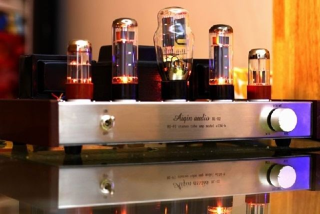Laochen EL34 Single-ended Tube Amplificateur HIFI exquis AIQIN Catégorie A à la main lampe amp Argent version OCEL34S OldChen