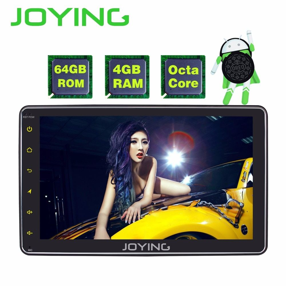 JOYING 4GB RAM 64GB ROM 1 DIN 8 INCH Android 8.1 car Autoradio HD screen stereo head unit tape recorder GPS player with carplay