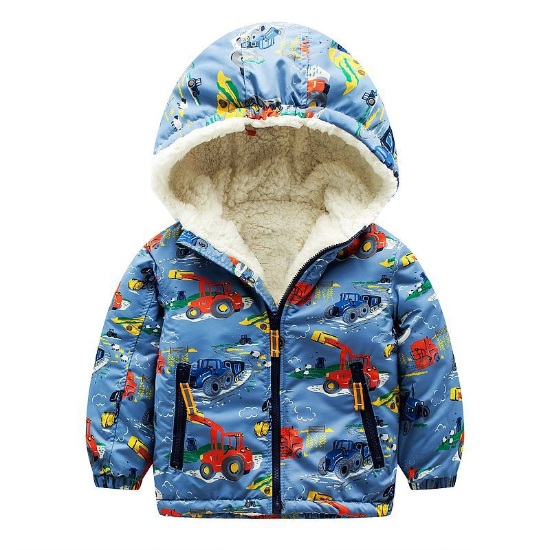 Baby Boys Jackets 2017 Brand Kids Winter Down Jackets for Boys Clothes Hooded Wollen Pattern Children Outerwear Girls Parka Coat