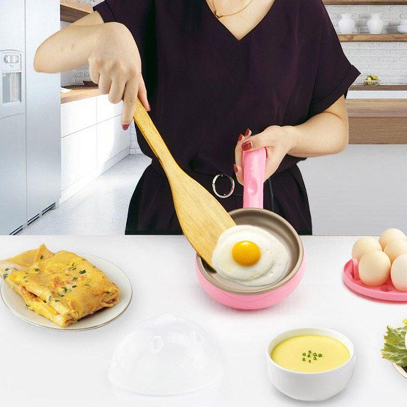 Heißer Multifunktions Haushalt Mini Ei Omelett Pfannkuchen Elektrische Fried Steak Braten Nicht-stick Gekochte Eier Hohe Qualität HY99 JU01